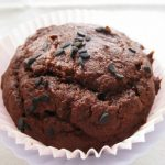 Cocoa and Banana Muffins with Black Sesame Seeds