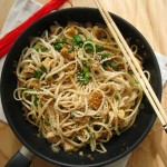 Spicy Udon Noodles with Cabbage and Shiitake