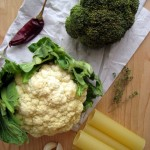 Baked Cauliflower and Broccoli Cannelloni