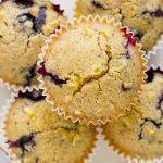 Vegan Corn Blueberry Muffins