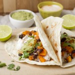 Butternut Squash And Black Beans Taco & Quesadilla